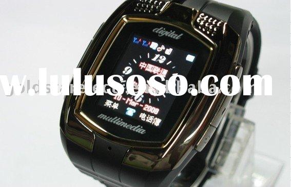 Dual sim card watch mobile phone with bluetooth FM