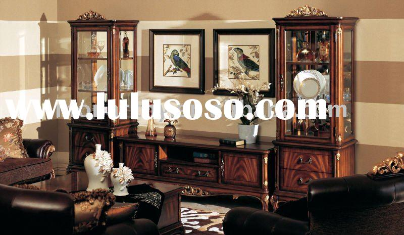 E127-63 classic solid wood American style TV STAND living room furniture