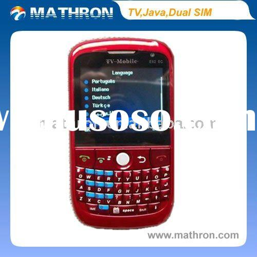 "E82 2 "" LCD TV Java GPRS Quadband Dual SIM Mobile Phone"