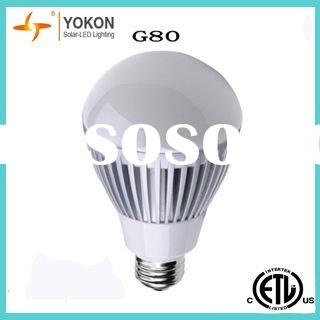 ETL Listed LED light bulb, 9W E26 G80LED light bulb, Dimmable LED light bulbs