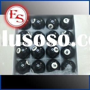 E.S. Billiard Black 8 Ball, Pool Cue Ball, Snooker Cue Ball