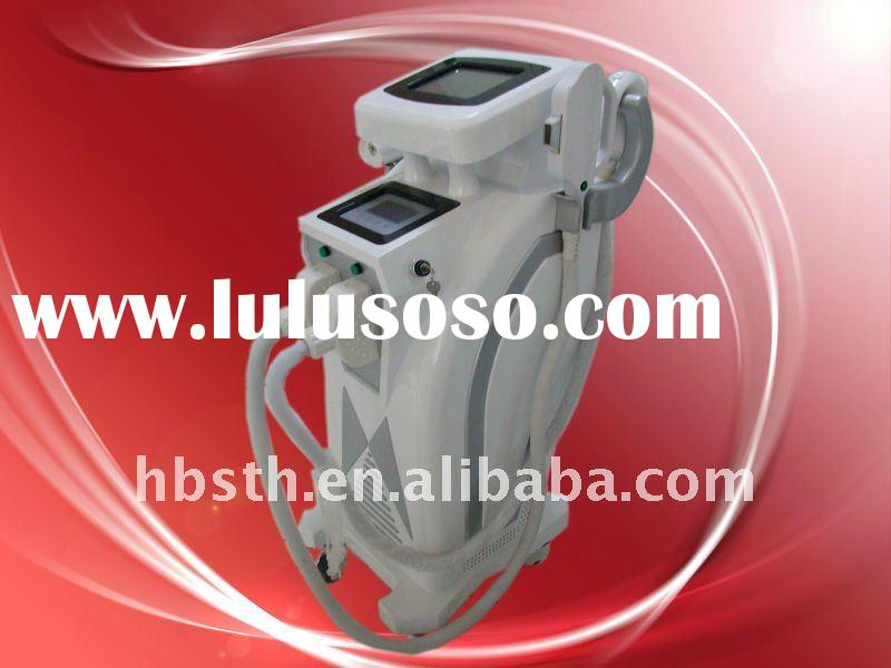 E-light ipl RF Nd:yag laser hair removal beauty salon equipment with CE