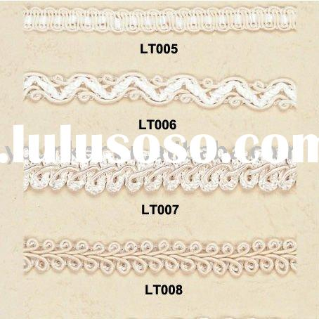 Elastic cotton lace,elastic edging Lace fabric