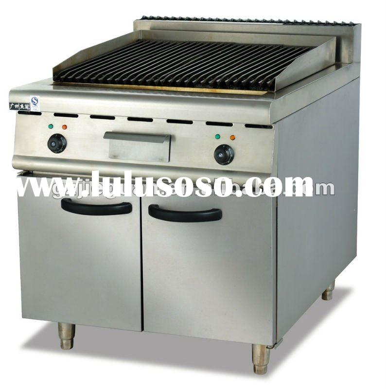 Electric Grill---Lava Rock grill with Cabinet EB-889