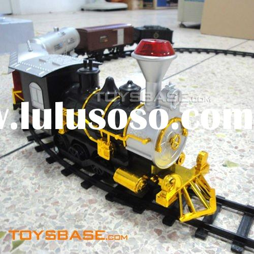 Electric Plastic Toy Train with Light and Smoke