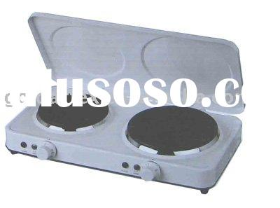 Electric Stove Double Burner Hot Plate (With Lid)