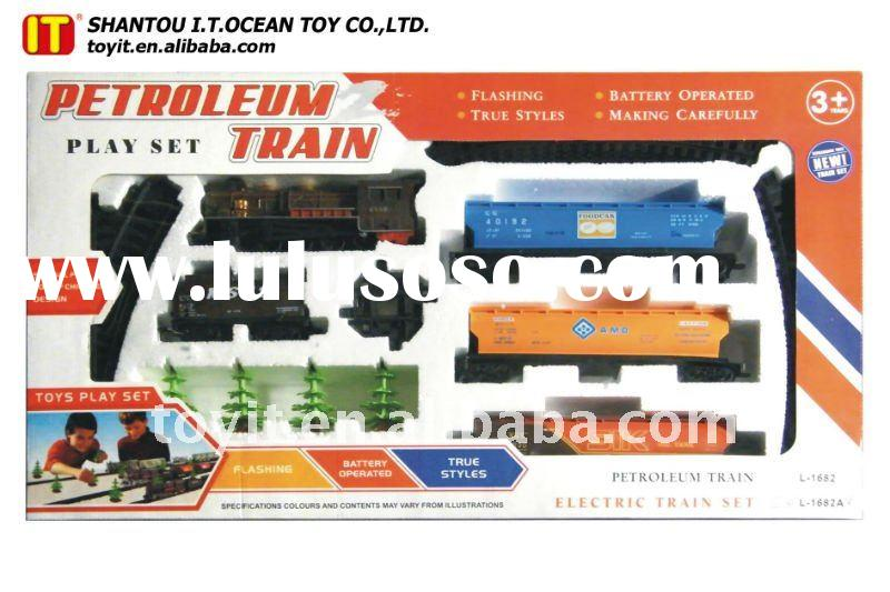 Electric Train Toys For Children With Tracks