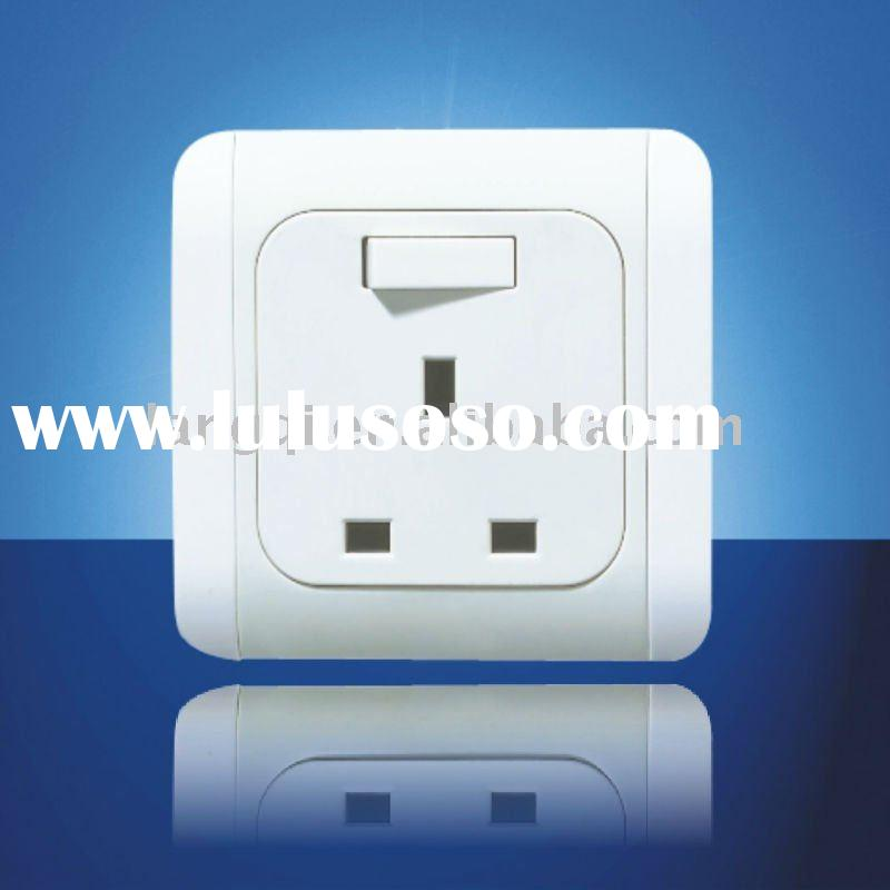 Electric wall switch and socket