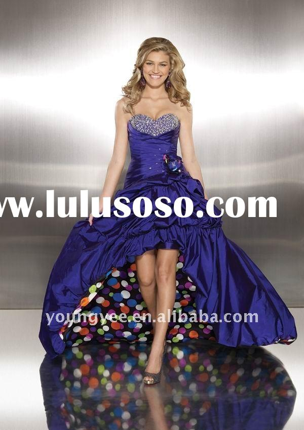 Elegant beautiful sweetheart neckline short front long back prom dress ,2012 prom dresses