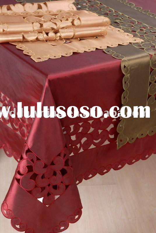 Embroidered Tablecloth table cloth with table runners
