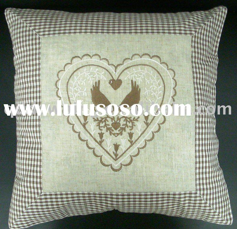 embroidered pillow and bed cover, embroidered pillow and bed cover ...