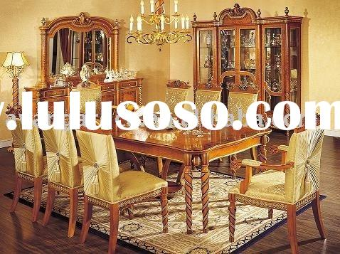 European antique wooden dining room set
