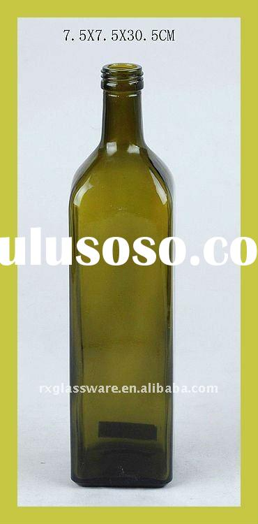Exquisite Olive Glass Bottle