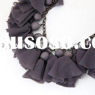 FABRIC /PEARL FASHION JEWELRY NECKLACE