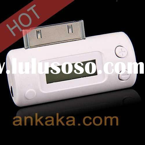 FM Transmitter and Car Charger for iPod & iPhone