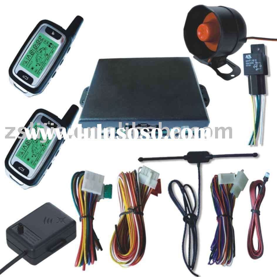 FM Two Way Car Alarm System With Remote Engine Start