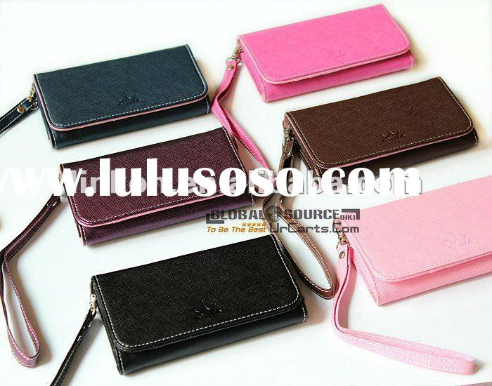 Factory Price Korea Fromb wallet cellphone leather case for iphone 4s smart pouch card holder leathe