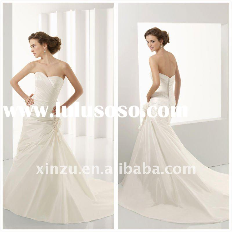 Fascinating Sweetheart Neckline Low Back Mermaid Wedding Dress T-112484