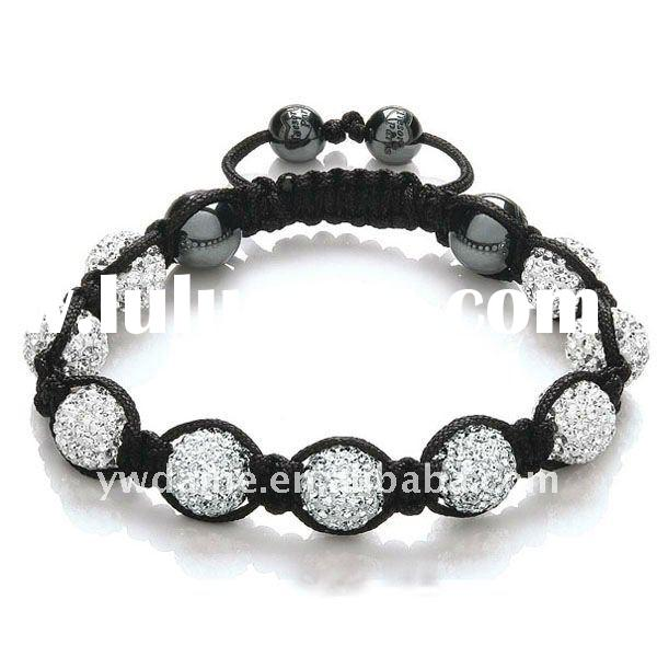 Fashion Clear Crystal Beads Shambala Bracelet 126339