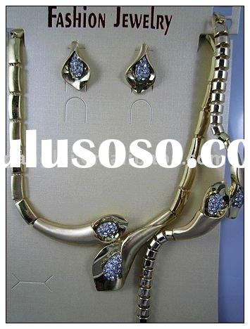 Fashion Gold Plated Jewelry Set African Jewelry Set Imitation Jewelry Set Alloy