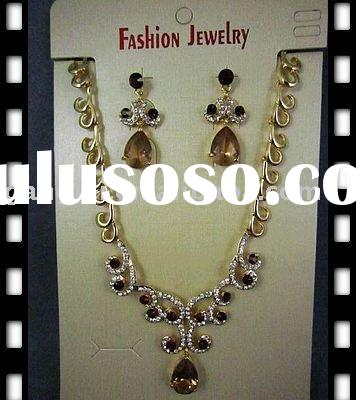 Fashion Imitation Gold Plated Alloy Jewelry Costume Set
