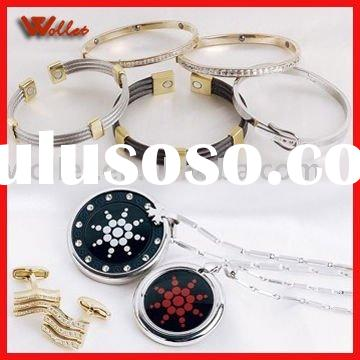 Fashion Magnetic Stainless steel Titanium Tungsten & Ceramic Jewelry