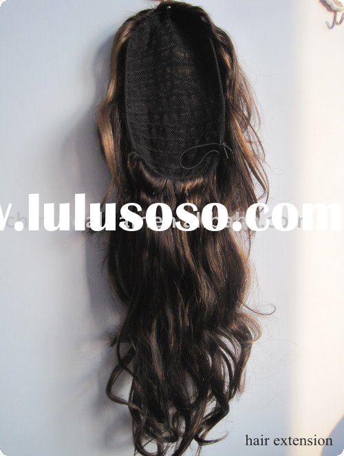 Fashion NATURAL human hair ponytail extension