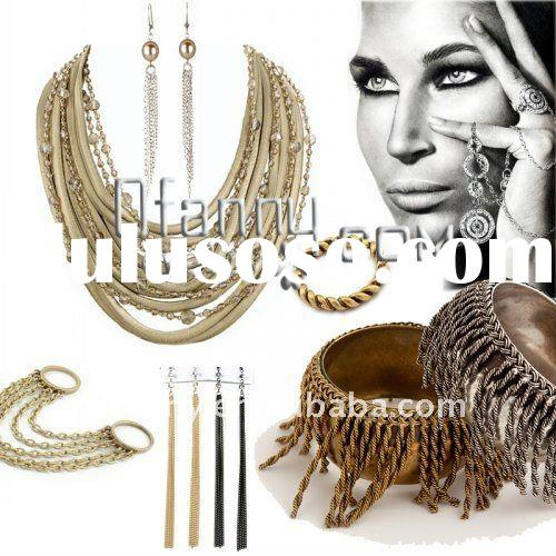 Fashion chain necklace earring jewelry set