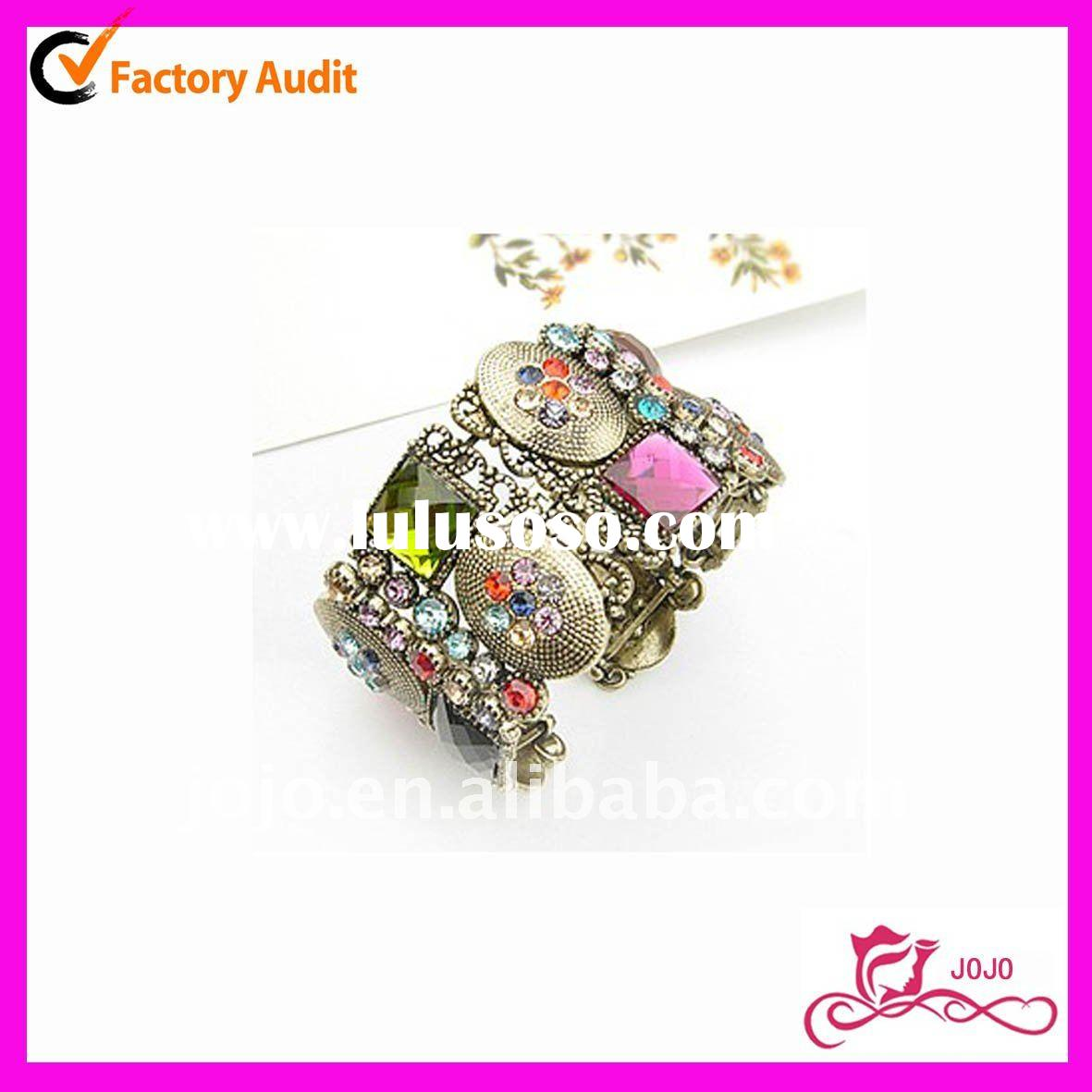 Fashion jewelry crystal stone anklet/bangle