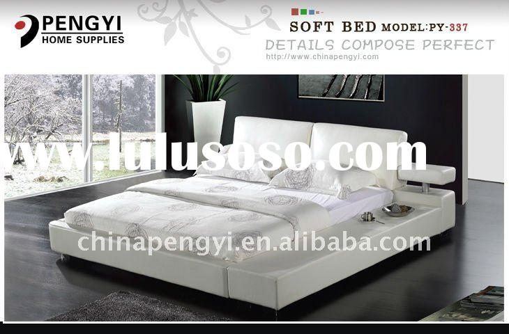 Fashion leather queen bed PY-337