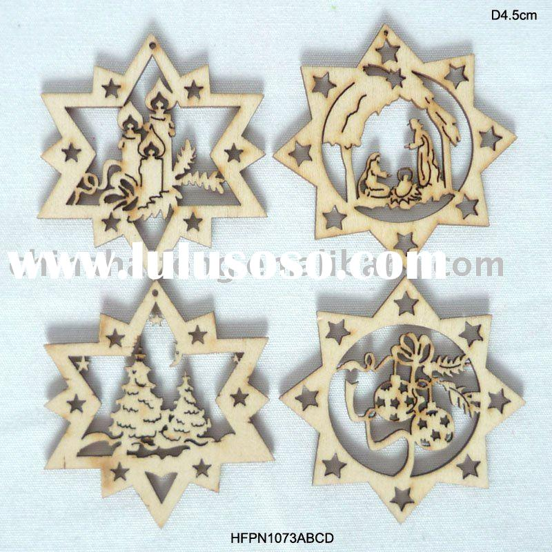 Christmas tree decorations wooden christmas lights card for Wooden christmas decorations