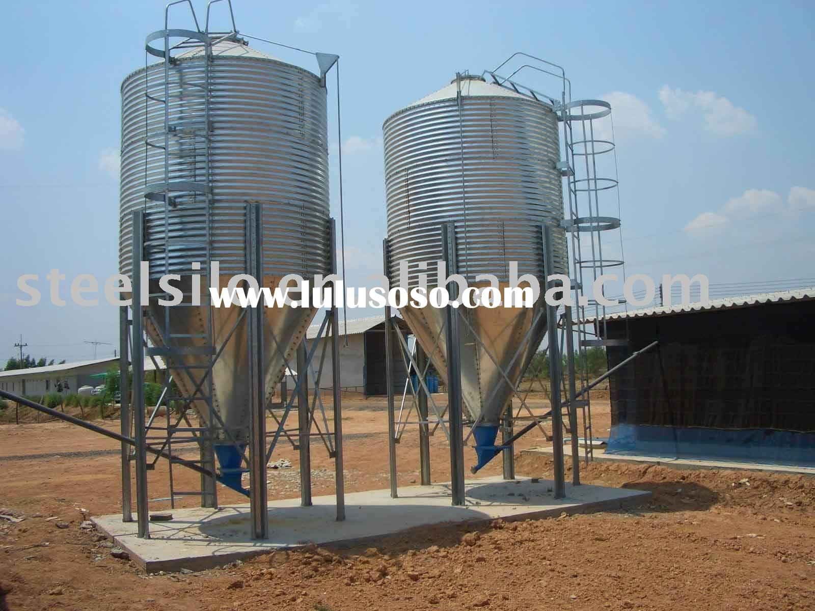 Feed Bin - Hopper Bottom Steel Silo