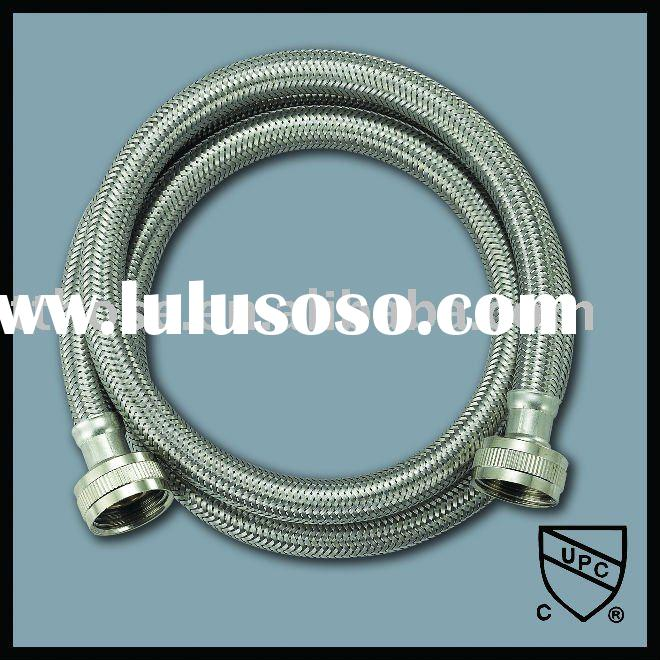 braided stainless steel washing machine hose with one 90