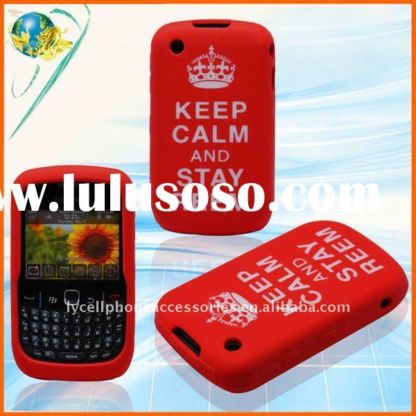 For Blackberry Curve 8520 9300 Royal Crown Keep Calm and Stay Reem silicone design cover