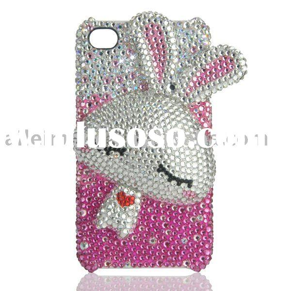 For Rabbit iPhone 4 Case With Swarovski Crystal (4G-DDM17-1) Paypal