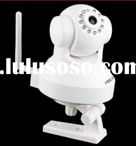 Foscam Wireless/Wired WiFi 300k Pixels 11 IR LEDs Night Vision IP Security Camera White