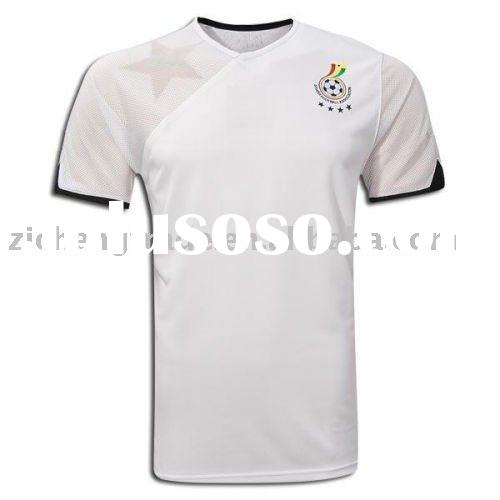 Ghana National Home Authentic Soccer Jersey White Color 2010