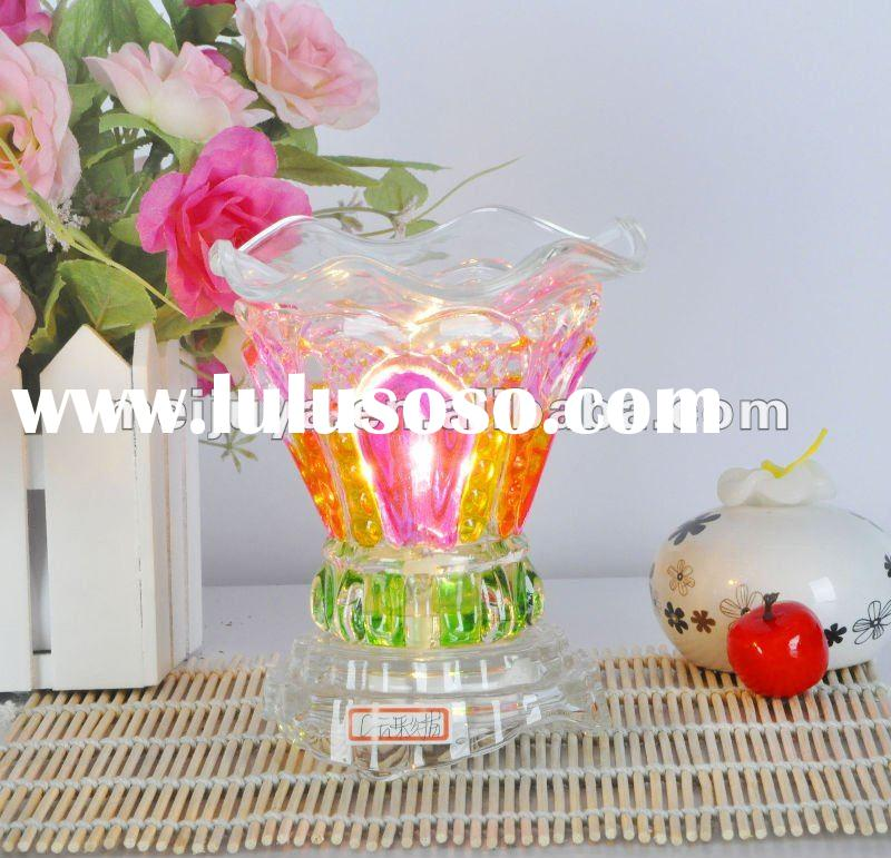 Glass electric oil burner,fragrance lamp,electric oil warmer,night light