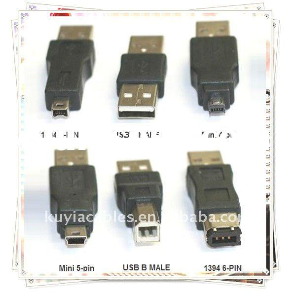 Good Quality 6 in 1 USB Converter Travel Kit Cable to Firewire IEEE 1394