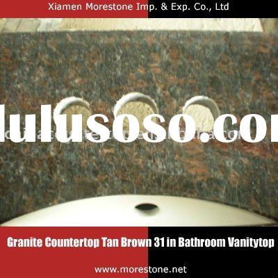 Granite Countertop Tan Brown 31 inch Bathroom Vanity tops
