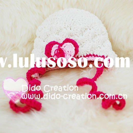 H05C045A Hand fashion Crochet Baby kufi Hats cap Beanie flower animal new born baby gifts earflap