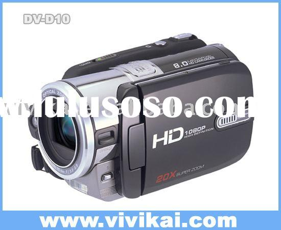 HD 1080P Digital Video Camera with 3 inch LCD / 20X Super zoom/EIS stabilizer (DV-D10)