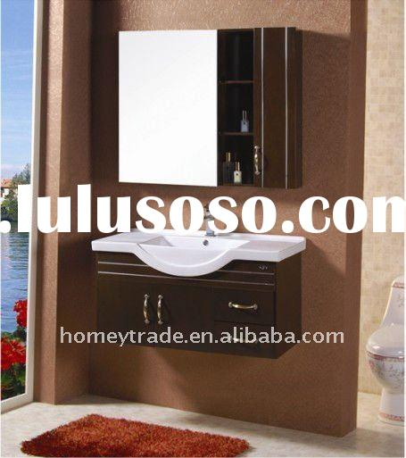 HM-A106032 modern pvc bathroom cabinet with ceramic basin