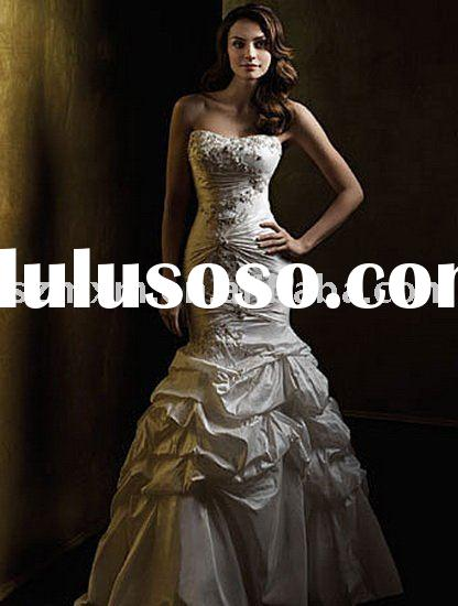 HQ740 New collection simple bridal wedding gown