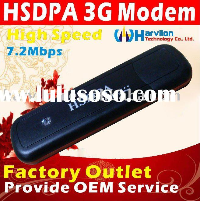 HSUPA 7.2M Speed 3G USB Data Card with SIM Slot