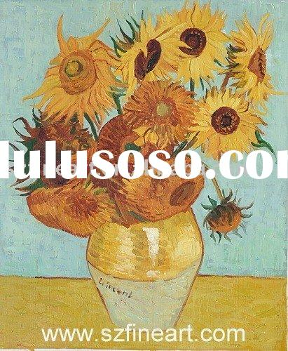 Handmade Van Gogh Oil Painting reproduction of Sunflower at Good price