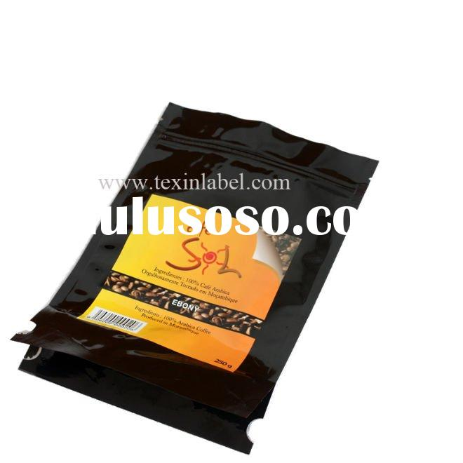 Heat sealed stand up Coffee bags with zipper & tear notch/ziplock coffee pouch