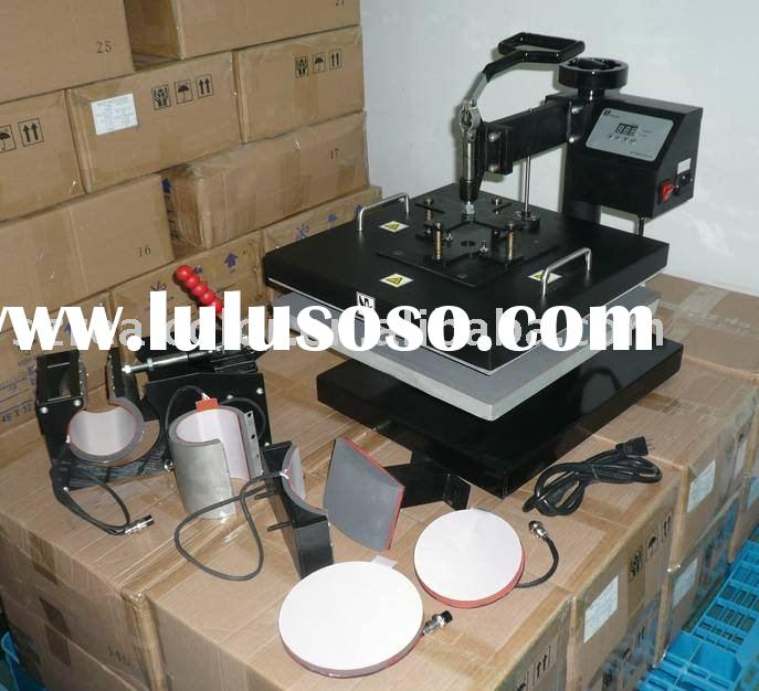 Heat transfer machine, heat press machine, heat press machine for T-shirt, mug, cap, plate
