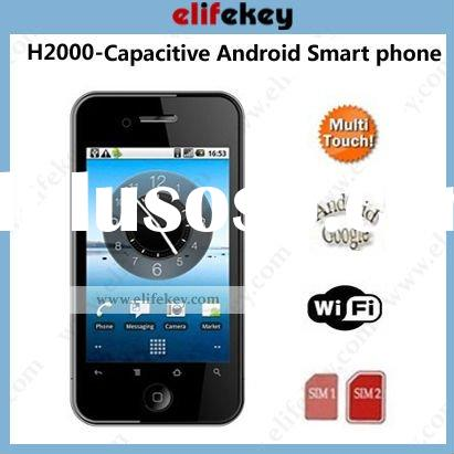 Hero H2000 Dual SIM Android 2.2 Capacitive Touch Screen GPS WIFI TV android cell phones unlocked