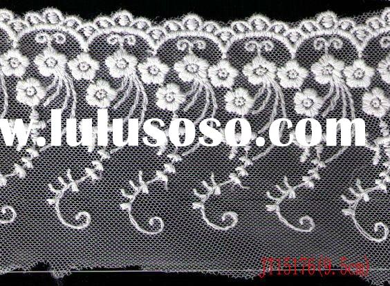 High Quality Swiss Cotton Voile Lace JT15176